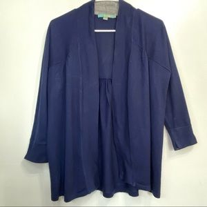 Boden 10 blue long sleeve open front cardigan 69B7